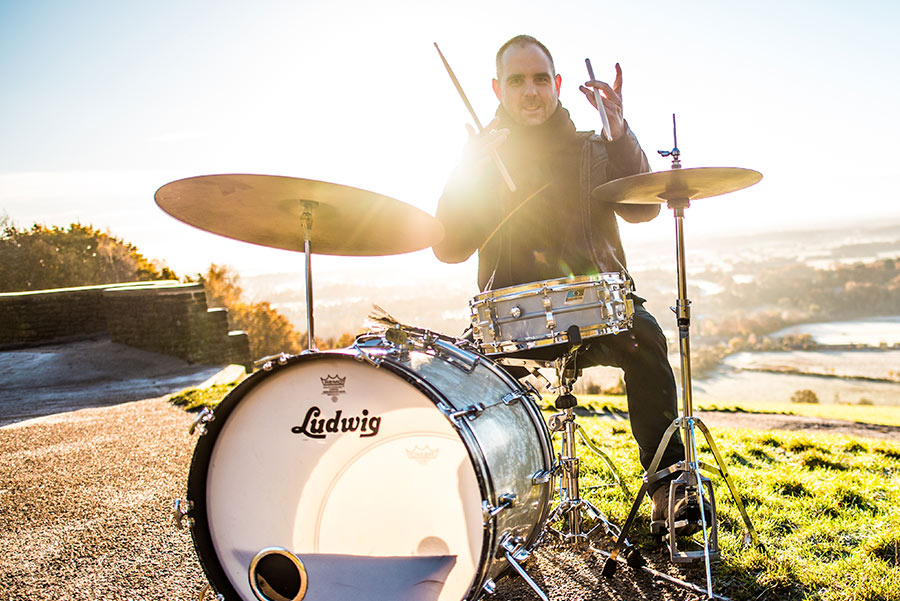 The best session drummer for hire in London - Ben Woollacott - hire a drummer