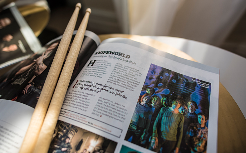 Ben Woollacott drummer freelance musician London Rhythm Magazine interview